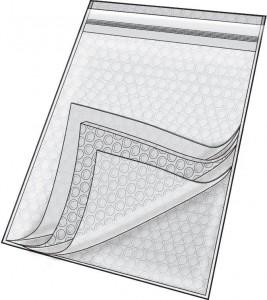 Series 1084 Clear Zip Close Cushion Bags