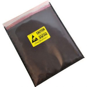 Series 4084 Static Dissipative/Black Conductive Zip Close Cushion Bag