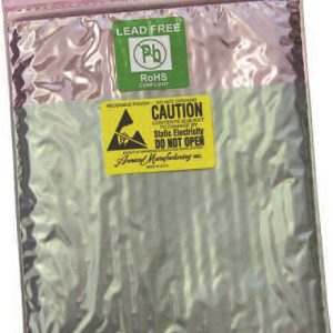 Series 9083DKLF Static Shield/Amine Free, Static Dissipative Lead-Free Zip Close Cushion Bag