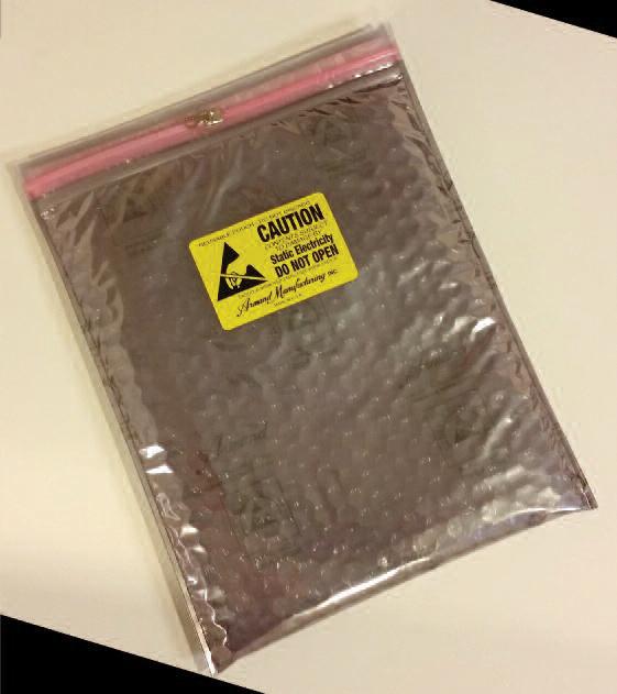 Series 9083S Static Shield Zip Close Cushion Bag with Metal Slider