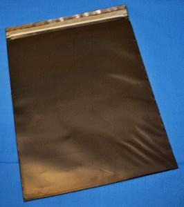 """Black Conductive Zip Close Poly Bag - 9""""x12""""x.006"""