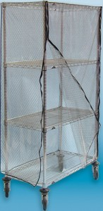 Clear-ESD-Grid-Cart-Cover Photo