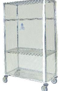 Clear Dissipative Vinyl Cart Cover