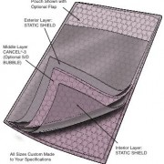 Series 9073SS Static Shield Cushion Pouch, Flap Closure